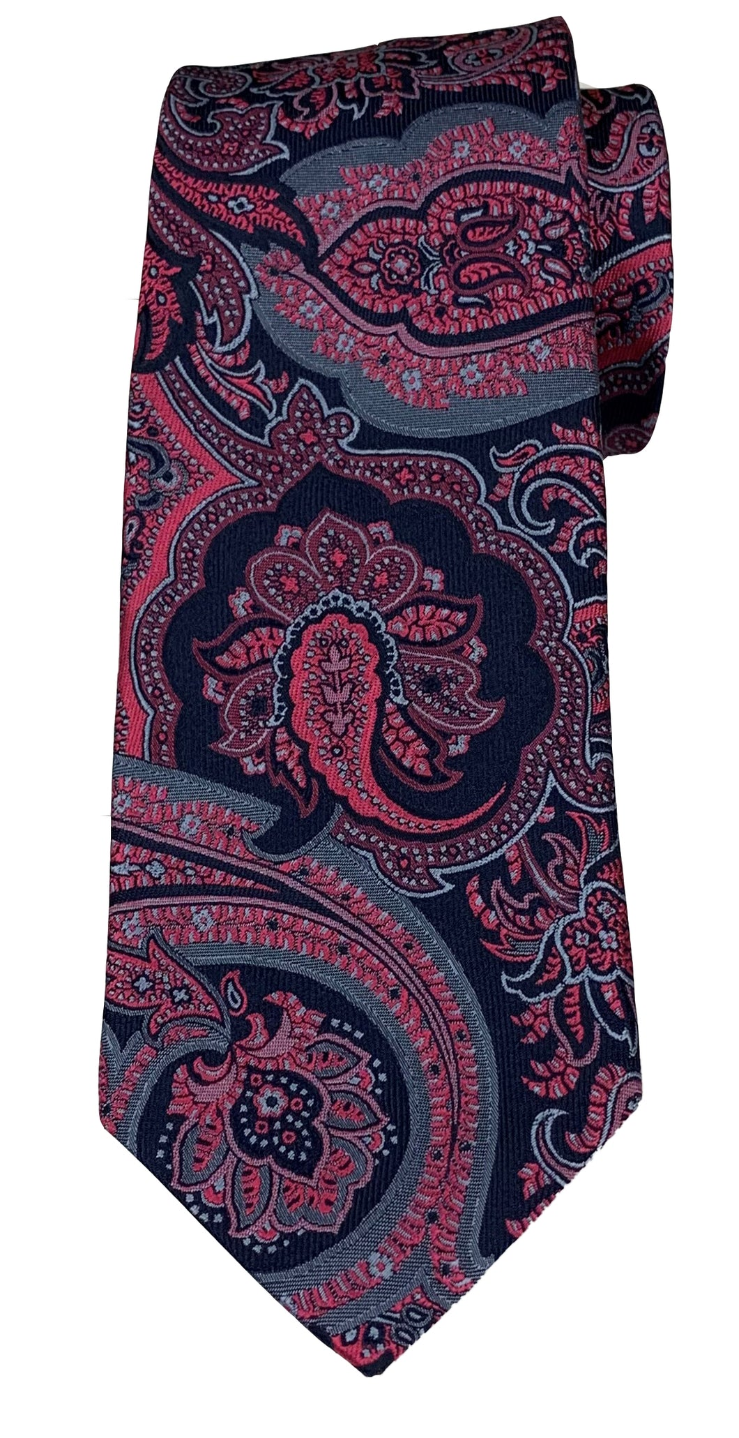 JZ RICHARDS Pink and Navy Paisley