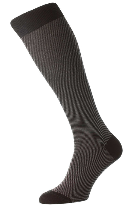 Pantherella  Micro Stripe – Black