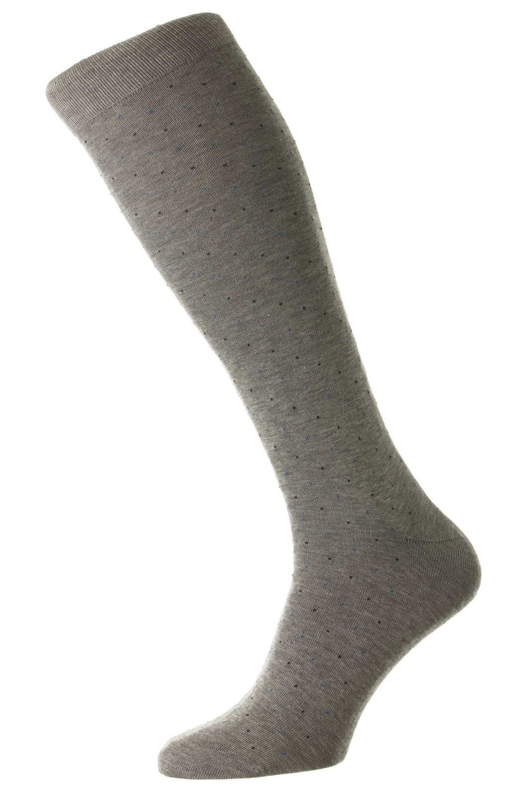 Pantherella Two Color Pindot | Medium Grey