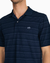 Southern Tide Heathered Stripe Driver Performance Polo | Navy