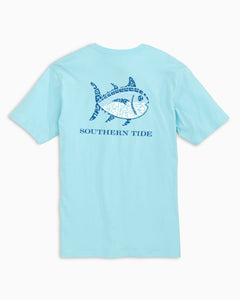 Southern Tide Tiki Skipjack Tee | Light Blue