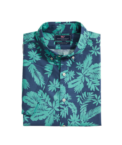 Vineyard Vines Tropical Leaves Murray Shirt | Slim Fit