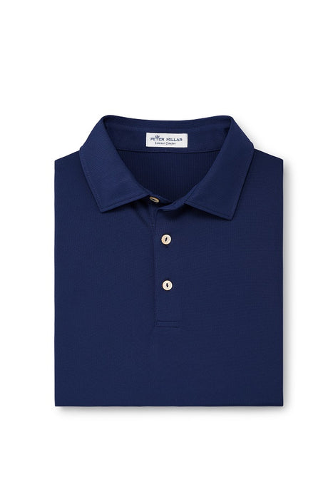 Peter Millar Solid Strech Mesh Polo - Navy