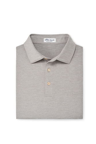 Peter Millar Solid Performance Polo | Gale Grey