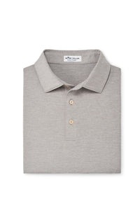 Peter Millar Solid Performance Polo - Gale Grey