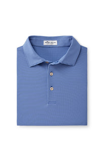 Peter Millar Jubilee Stripe Performance Polo - Blue Lapis