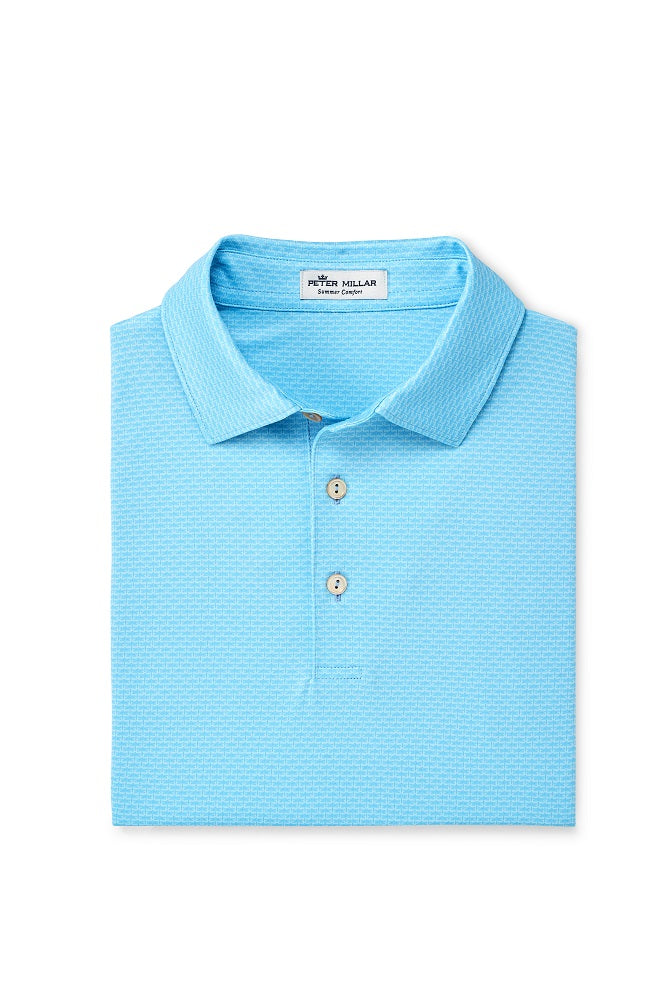 Peter Millar Hudson Performance Polo - Cottage Blue
