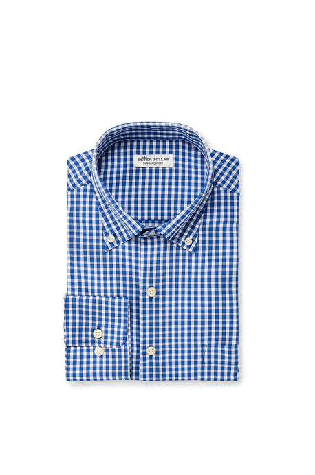 Peter Millar Humphrey Performance Sport Shirt - Blue Lapis