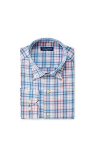 Peter Millar Bolden Natural Touch Sport Shirt - Waterfall