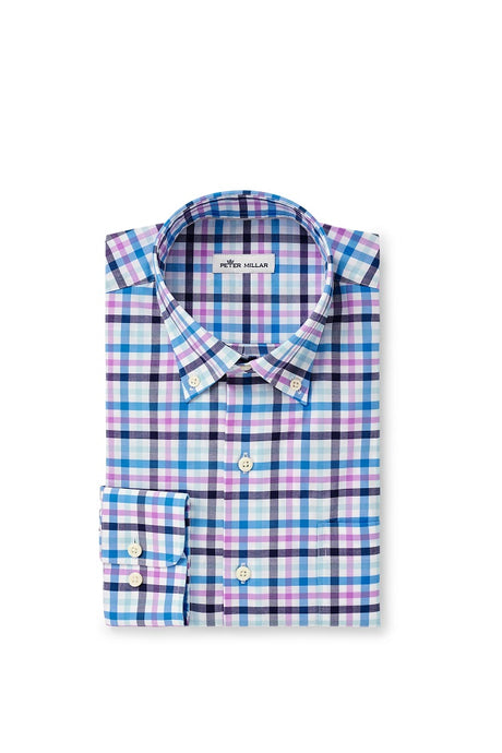 Peter Millar Coulson Cotton-Blend Sport Shirt - Navy