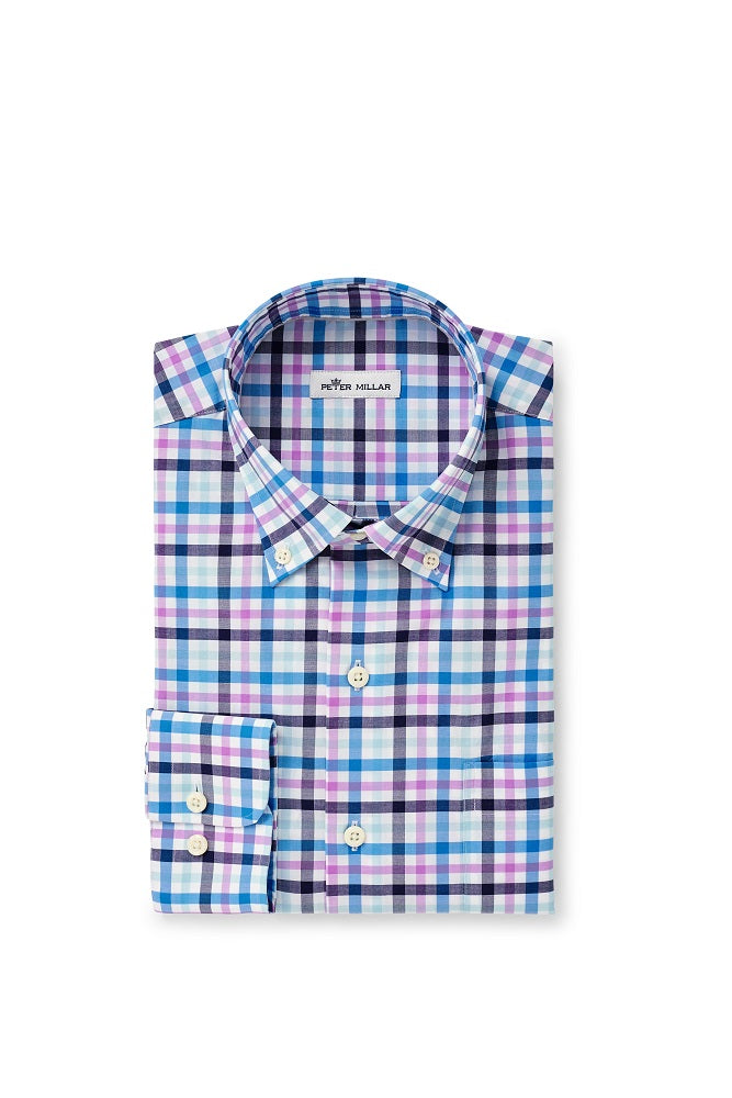 Peter Millar Coulson Cotton-Blend Sport Shirt | Navy