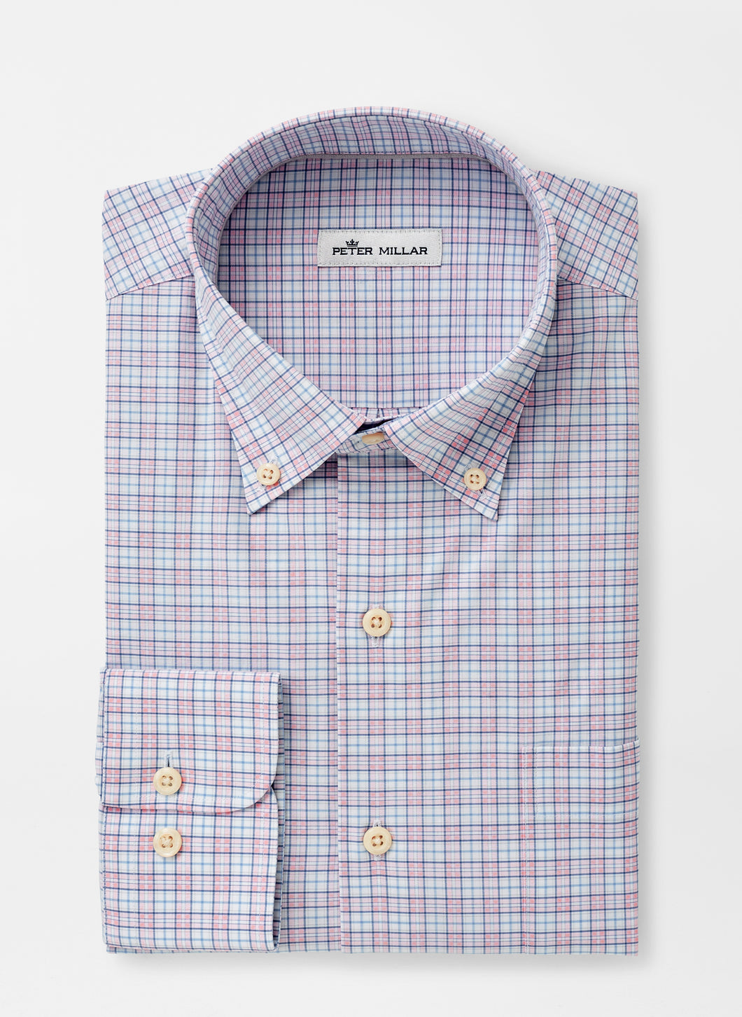 Peter Millar Clarence Cotton-Blend Sport Shirt - Palmer Pink