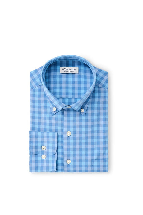 Peter Millar Cornelius Natural Touch Sport Shirt - Lake Blue