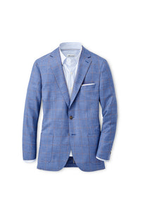Peter Millar Crown Double Pane Soft Jacket | Lake Blue