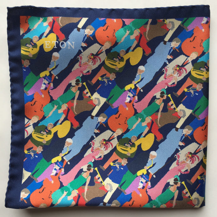 Eton Jazz People Pocket Square