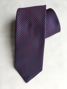 Eton  Circle Pattern Tie | Purple