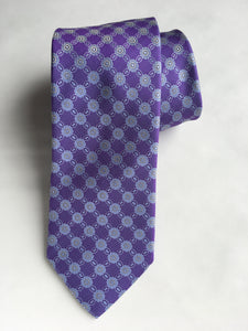 Eton  Medallion Pattern Tie | Purple