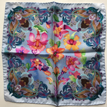 Eton Blue Floral Pattern Pocket Square