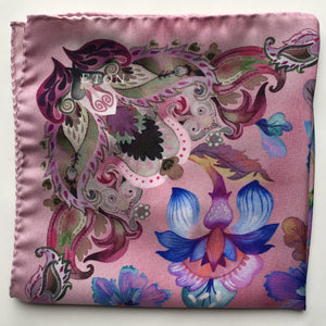 Eton Pink Floral Pocket Square