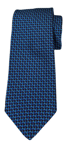 JZ RICHARDS Blue Tie with Circle Pattern