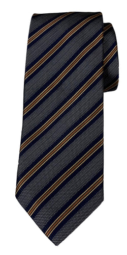 JZ RICHARDS Grey Tie with Multi-Colored Stripes