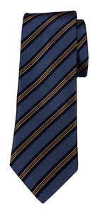 JZ RICHARDS Denim Blue Tie with Multi-Colored Stripes