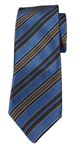 JZ RICHARDS Blue Tie with Multi-Colored Stripes
