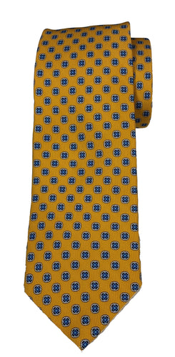 JZ RICHARDS Yellow Tie with Medallions