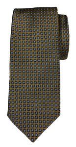 JZ RICHARDS Golden Tie with Square Pattern