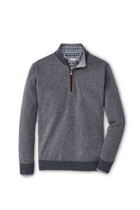 Peter Millar Needle-Stripe Wool Quarter-Zip