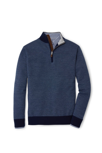 Peter Millar Wool Jacquard Quarter-Zip