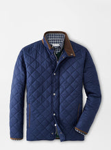 Peter Millar Suffolk Quilted Travel Coat-Navy