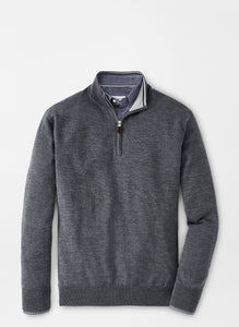Peter Millar Crown Soft Merino-Silk Quarter-Zip Sweater