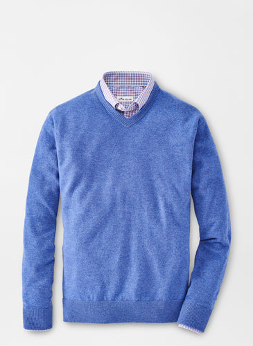 Peter Millar Crown Soft Cashmere V-neck Sweater
