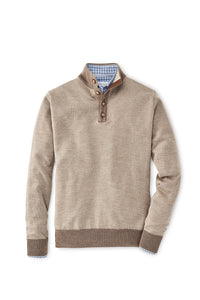 Peter Millar Birdseye Wool Button Mock