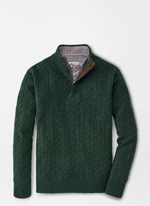 Peter Millar Wool Cable Quarter-Zip