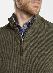 Peter Millar Wool-Cashmere Quarter-Zip Sweater