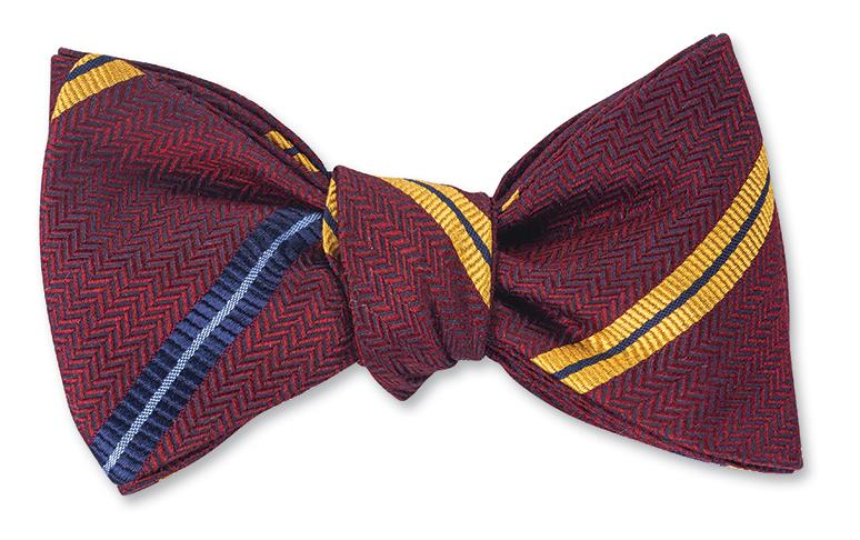 R. Hanauer Red Downing Stripes Bow Tie