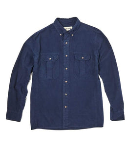Tom Beckbe Navy Flannel Work Shirt