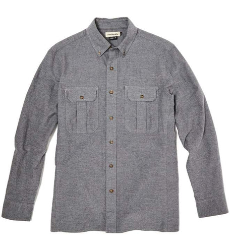 Tom Beckbe Heather Grey Flannel Work Shirt