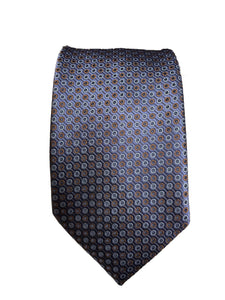 Eton Navy and Brown Silk Circle Tie
