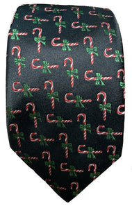 JZ Richards Candy Cane Tie-Black