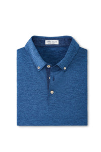 Peter Millar Solid Melange Performance Jersey Polo