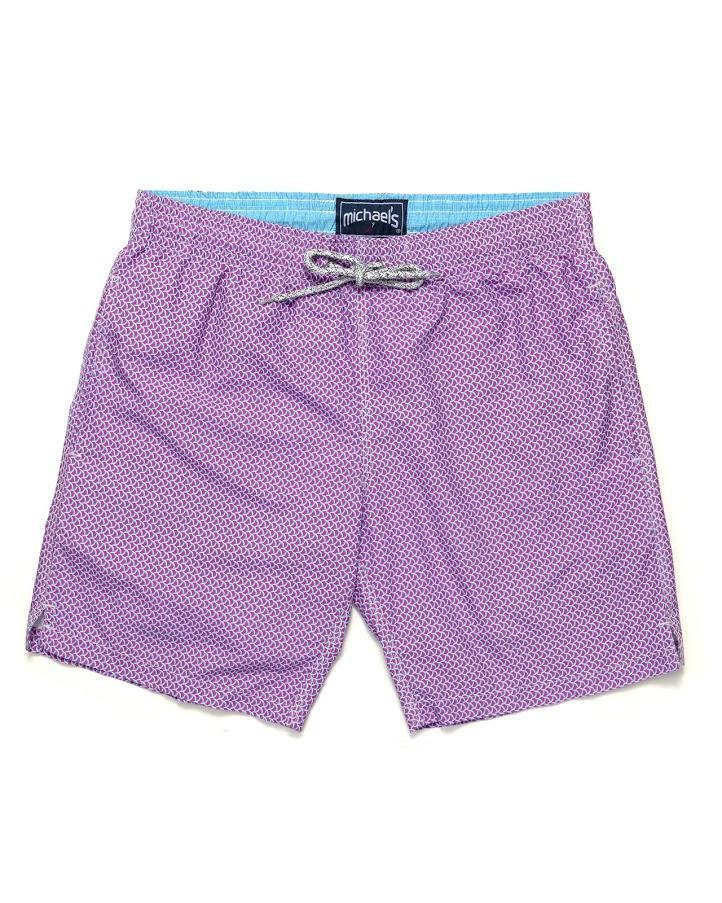Michael's Wave Print Swim Trunks