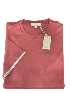 Canali Burgundy Cotton T-Shirt