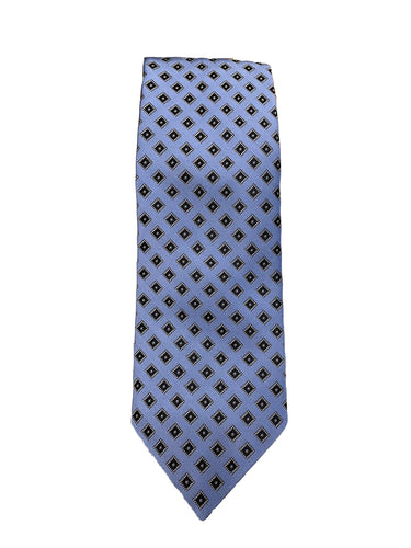 JZ RICHARDS Blue Tie with Square Pattern