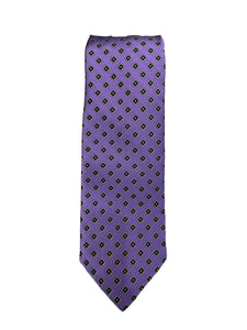 JZ RICHARDS Purple Tie with Square Pattern