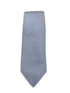 JZ RICHARDS Blue Tie with Cross Stitching