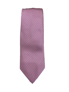 JZ RICHARDS Pink Tie with Cross Stitching