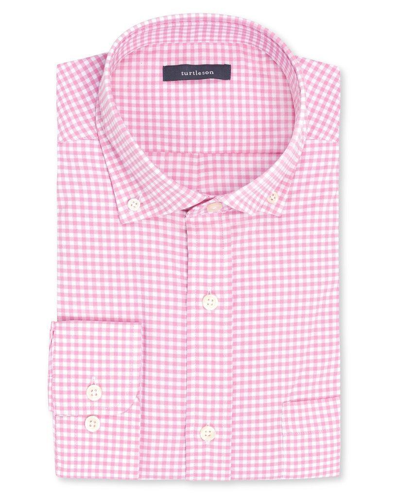 TURTLESON Taylor Gingham Performance Sport Shirt